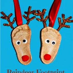 weihnachtliche basteleien mit finger und fu abdrucken. Black Bedroom Furniture Sets. Home Design Ideas
