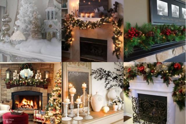 Kaminsims Für Weihnachten Dekorieren