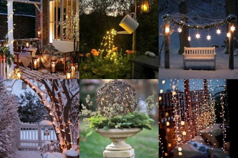 Weihnachtliche lichterdeko f r den garten for Weihnachtliche gartendekoration