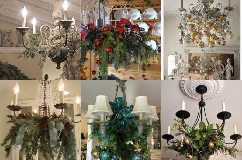 Den kronleuchter f r weihnachten dekorieren for Wohnung dekorieren app