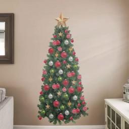 30 awesome christmas wall decor ideas 11.jpg