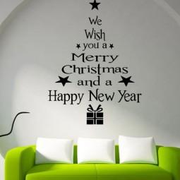 30 awesome christmas wall decor ideas 17.jpg