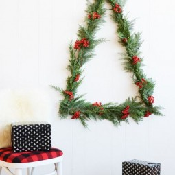 30 awesome christmas wall decor ideas 19.jpg