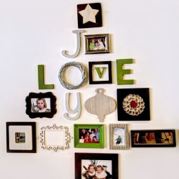 30 awesome christmas wall decor ideas 9.jpg