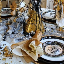 Amazing black white gold new years eve party dining table decorations ideas nye celebration dinner party decoration ideas.jpg