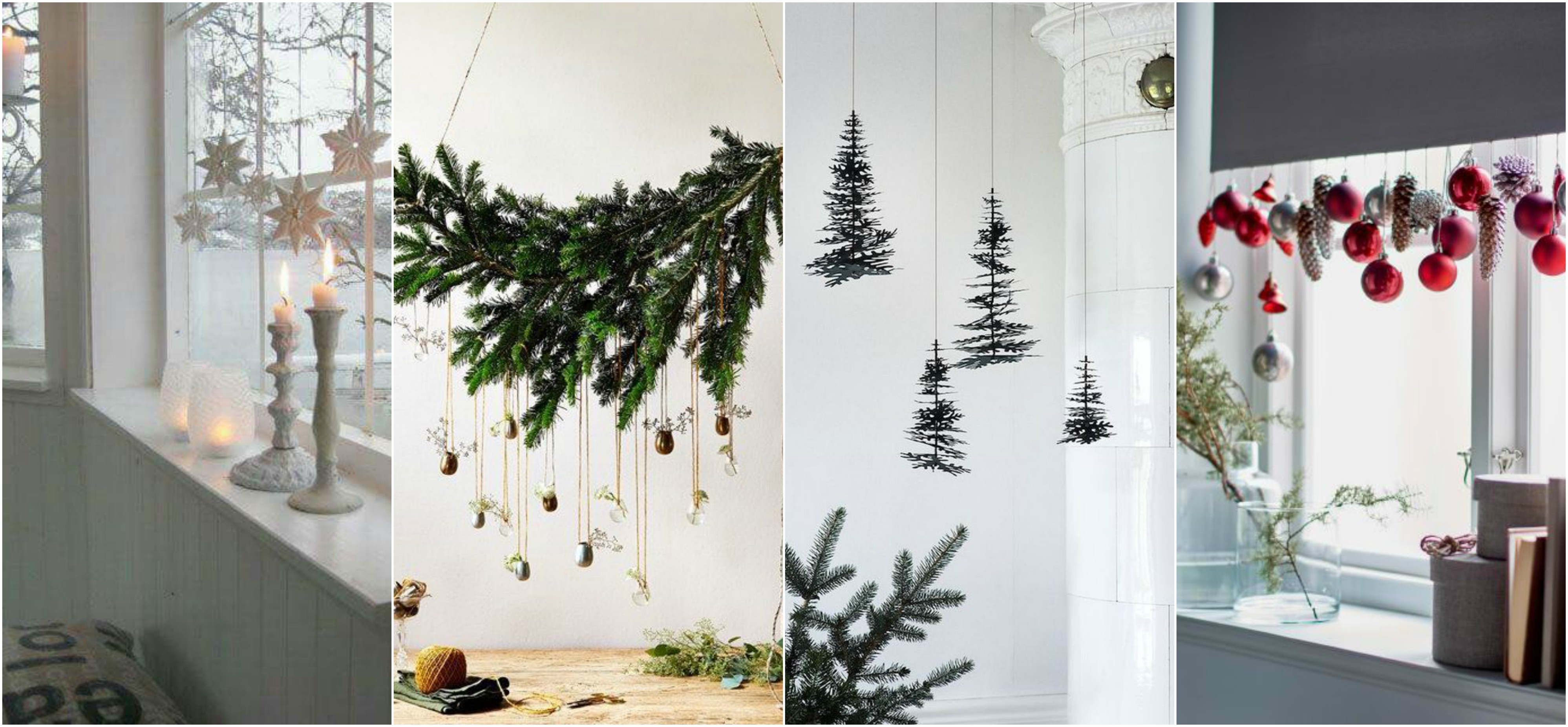 20 top h ngende weihnachtliche deko ideen. Black Bedroom Furniture Sets. Home Design Ideas
