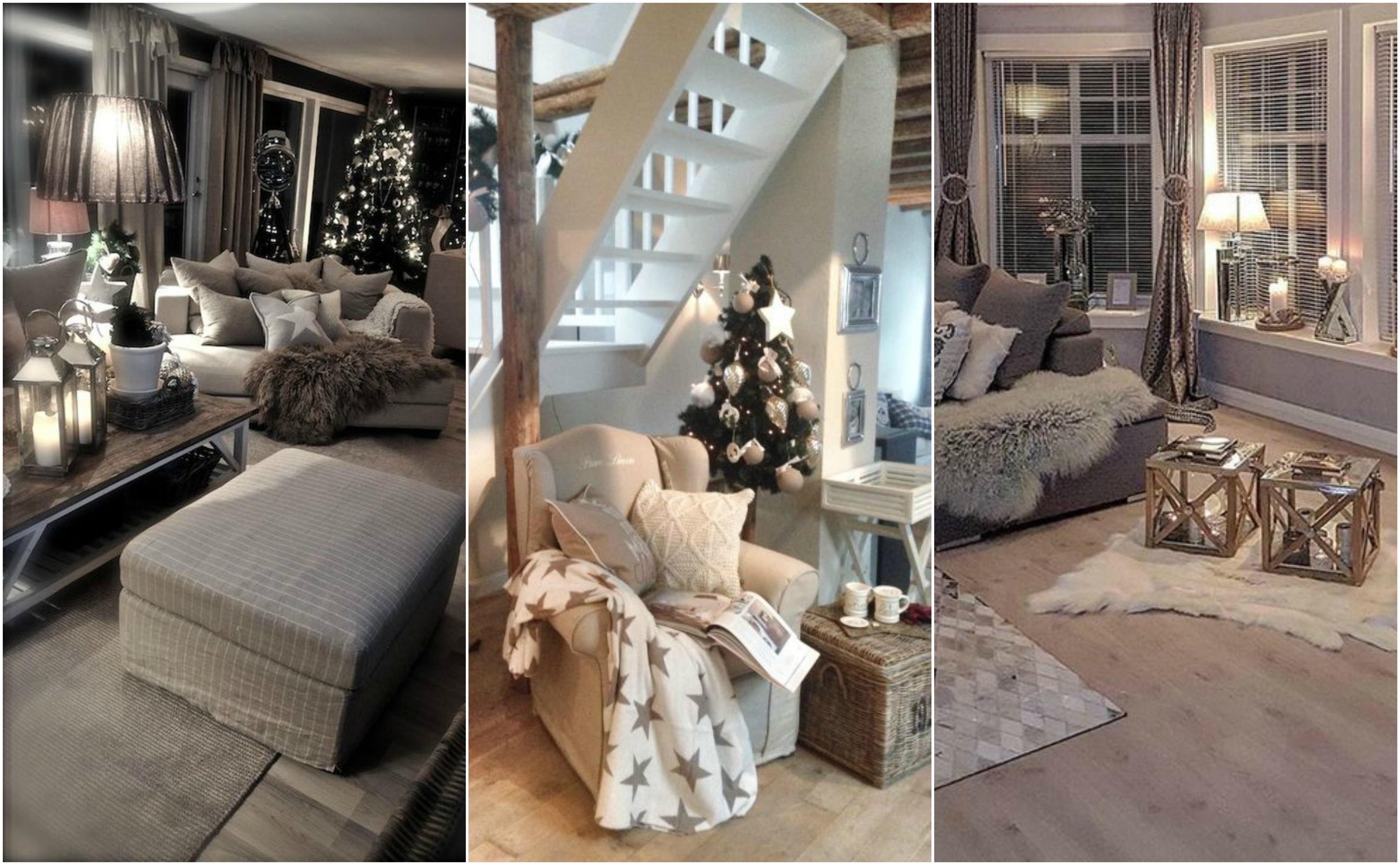 15 wunderbare weihnachtliche deko f r eures wohnzimmer. Black Bedroom Furniture Sets. Home Design Ideas