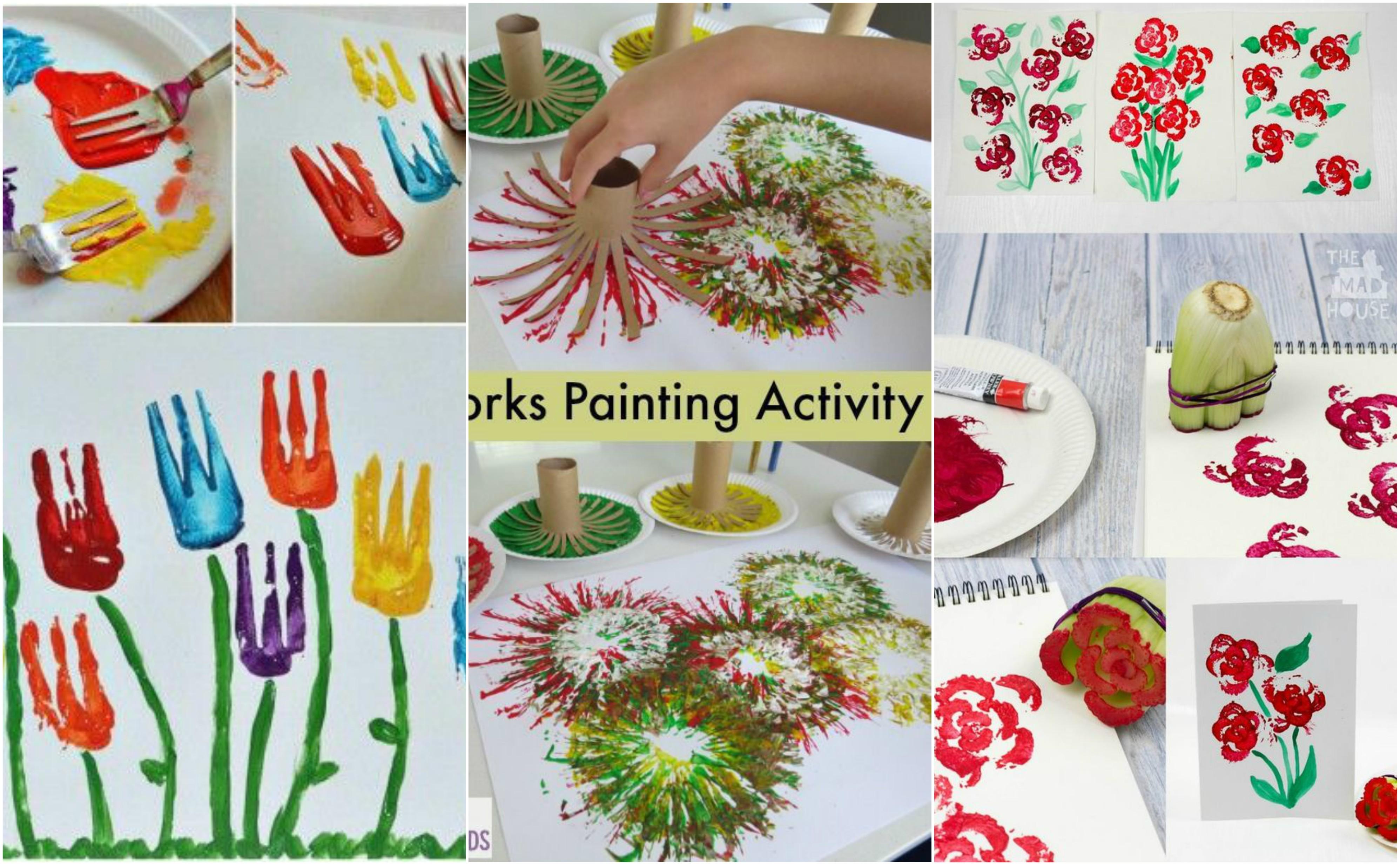 Malen Aktivitäten mit Kindern - 10 kreative Ideen