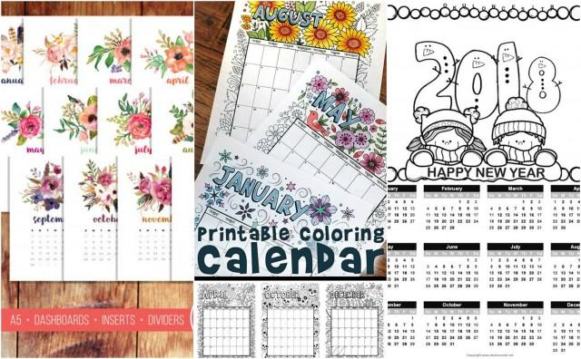 Diy kalender 2018 basteln 17 kreative ideen - Kalender ideen ...