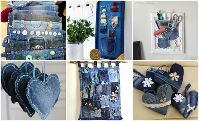 20 neue und stilvolle ideen mit alten jeans. Black Bedroom Furniture Sets. Home Design Ideas