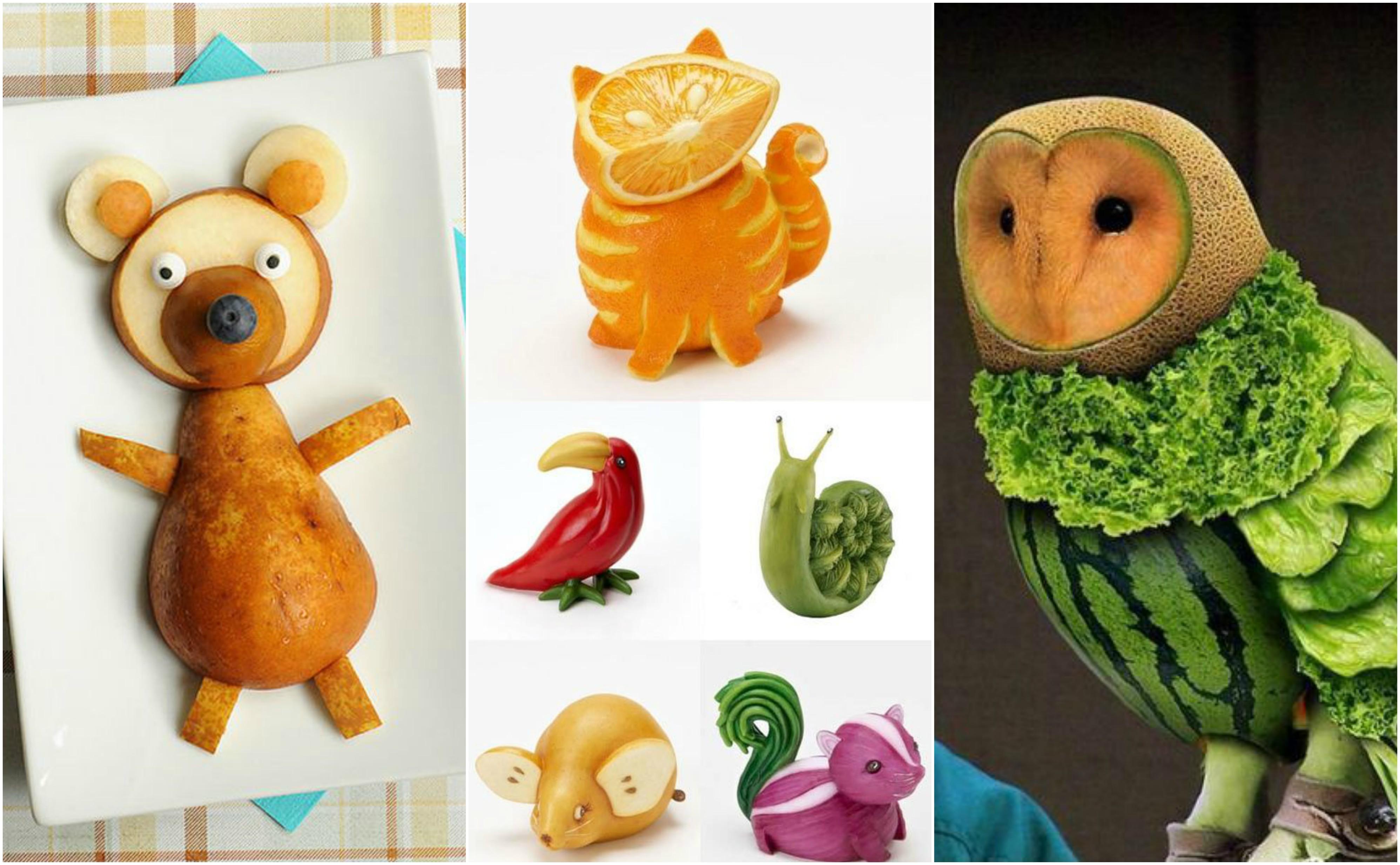 25 niedliche tiere ideen aus obst und gemüse