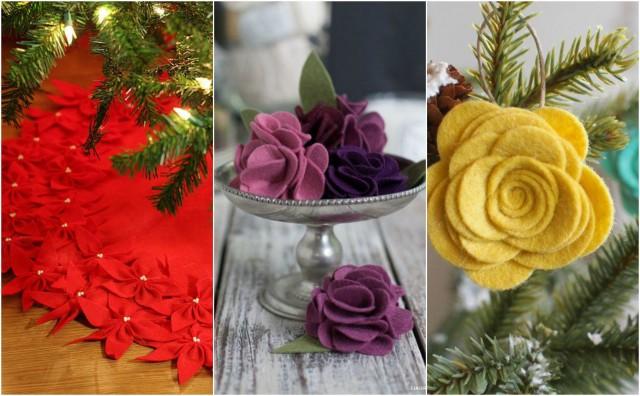Kunstliche Deko Zu Weihnachten 20 Diy Fuhlte Blumen Ideen
