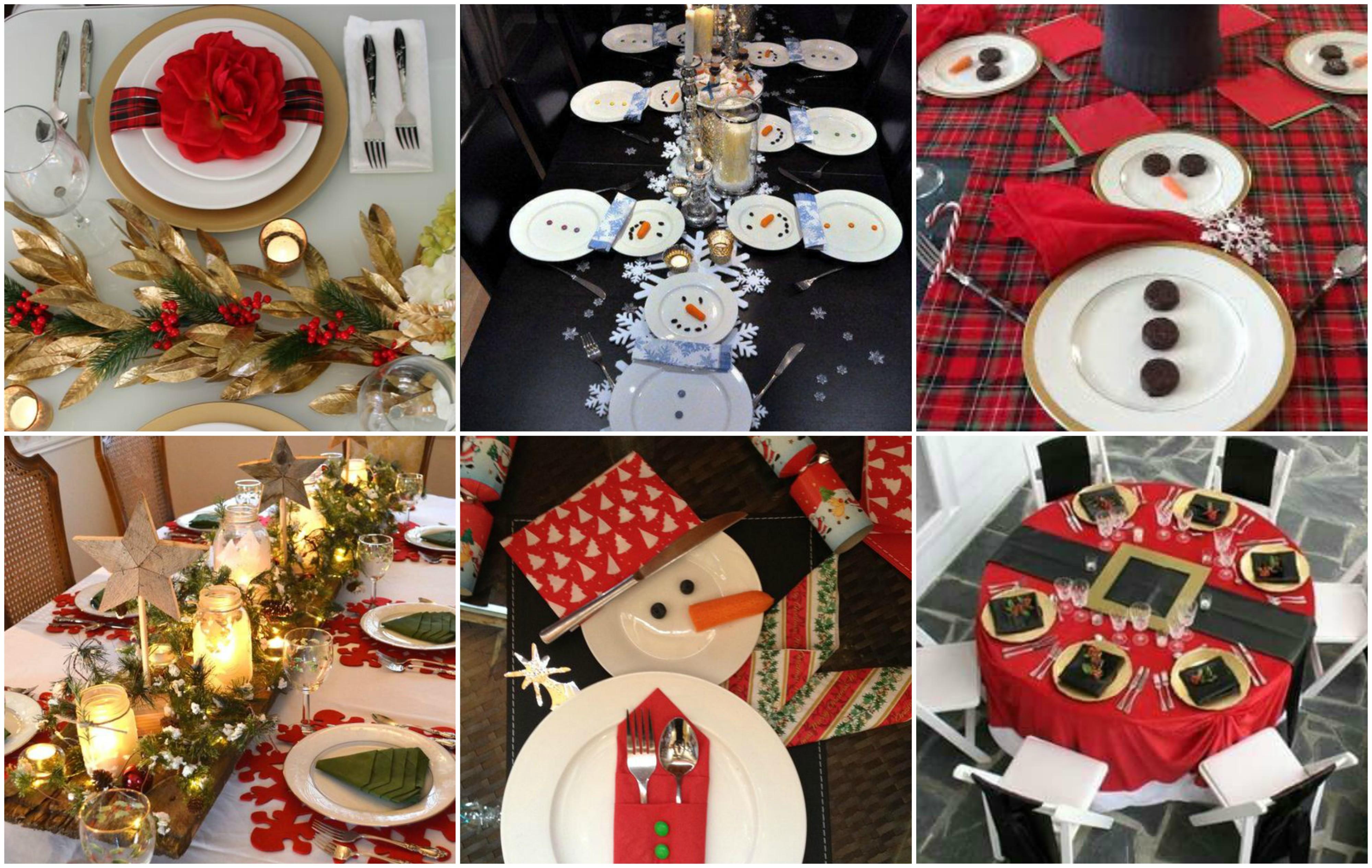 Schnell eine weihnachtliche atmosph re schaffen 15 ideen f r super coole tischdeko - Coole tischdeko ...