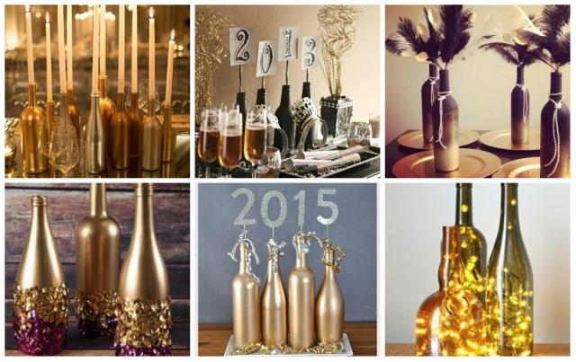 Silvester Dekoration Diy Ideen Aus Alten Weinflaschen Nettetipps De