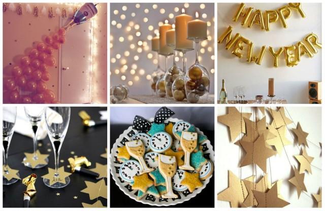 silvester party dekoration 17 kreative ideen. Black Bedroom Furniture Sets. Home Design Ideas