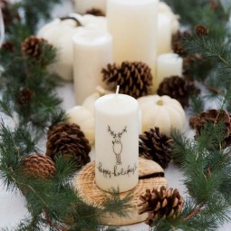 Simple holiday centerpiece ideas rustic candle easy diy table setting.jpg