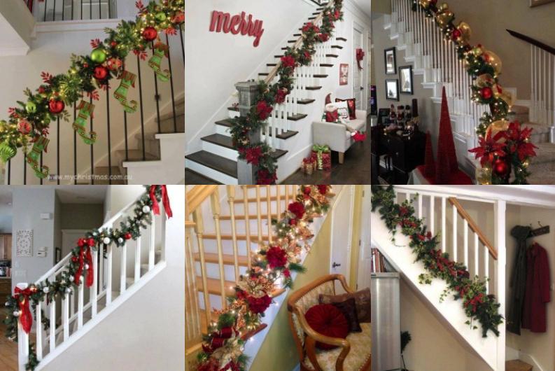 treppengel nder weihnachtlich dekorieren. Black Bedroom Furniture Sets. Home Design Ideas