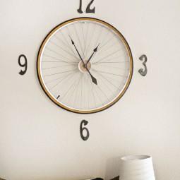 18 diy wall clock ideas homebnc.jpg
