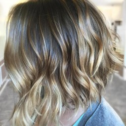 19 brown bob with golden blonde highlights.jpg