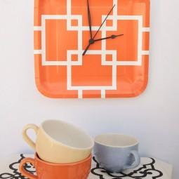 19 diy wall clock ideas homebnc.jpg