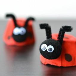 Basteln mit eierschachteln marienkaefer idee rot schwarze punkte filzkugel.jpg