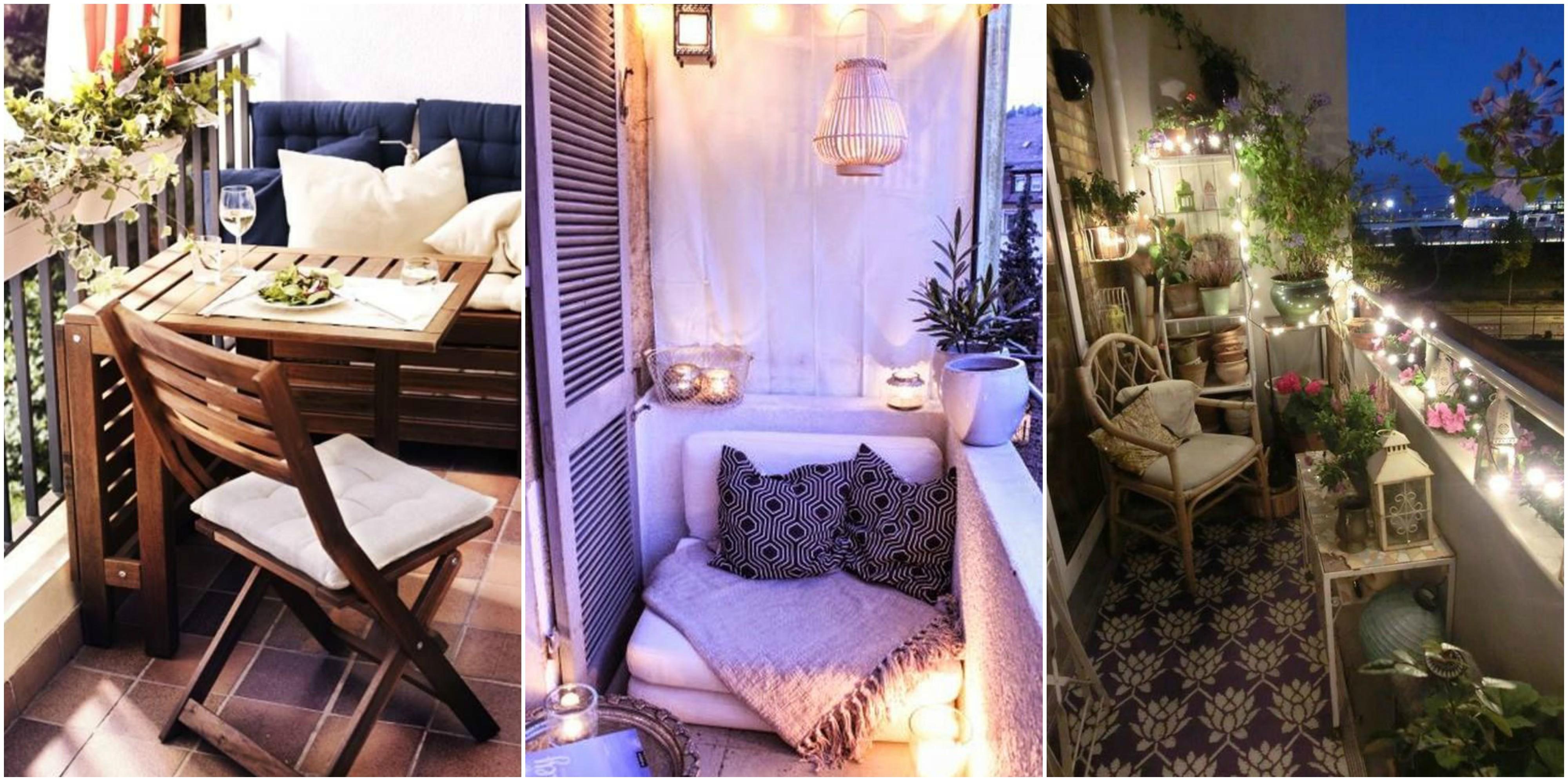 kleinen balkon einrichten und dekorieren 10 wundersch ne. Black Bedroom Furniture Sets. Home Design Ideas