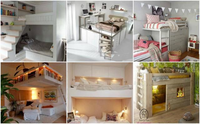 Schlafzimmer oder kinderzimmer platzsparend einrichten 20 tolle ideen - Kinderzimmer platzsparend ...