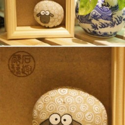 Diy home decor ideas with painted pebbles rocks 12.jpg
