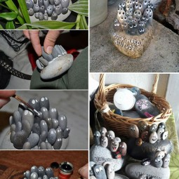 Diy home decor ideas with painted pebbles rocks 7.jpg