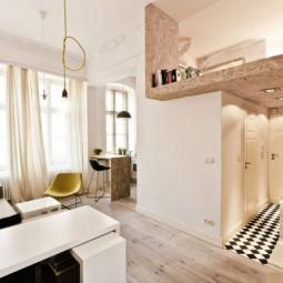 Kleine wohnung einrichten kueche esstheke wohnbereich treppen.jpg