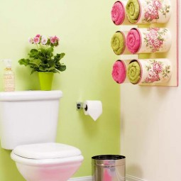 Make a towel organizer with tin cans.jpg