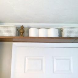 Mount a shelf above the door.jpg