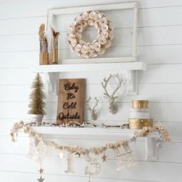 Winter decorating gold shelves.jpg