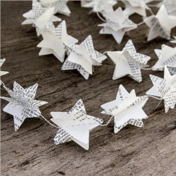 1 75m font b recycled b font book garlands newspaper stars garland bunting party holiday font.jpg
