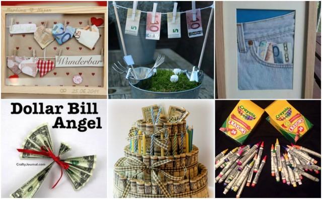 20 kreative ideen wie man geld schenken kann. Black Bedroom Furniture Sets. Home Design Ideas