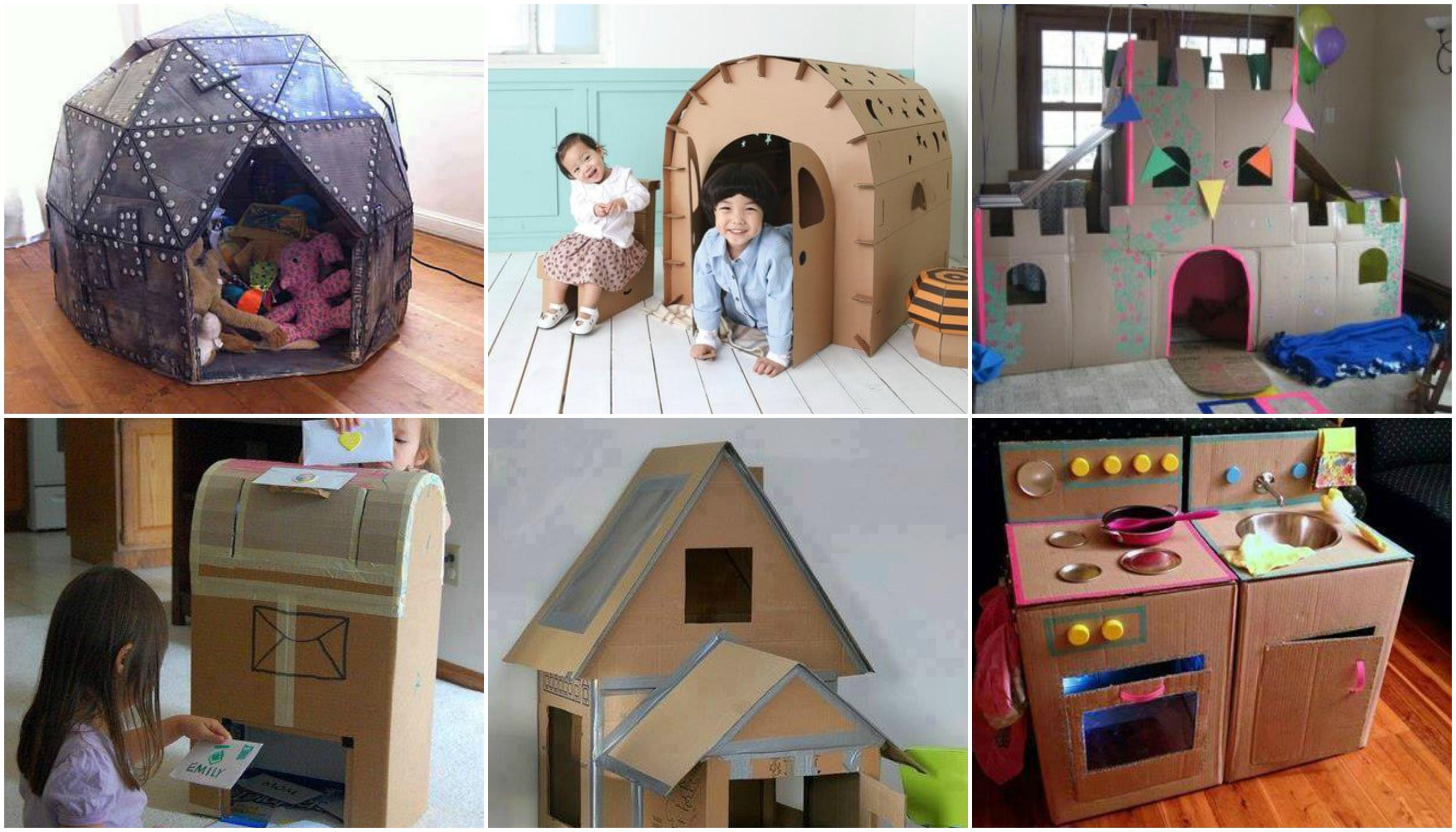 spielmöbel aus karton für kinder selber bauen