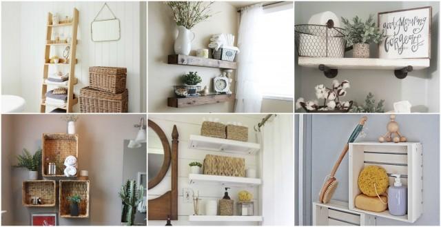 20 tolle und platzsparende Ideen für Badezimmer-Regale ...