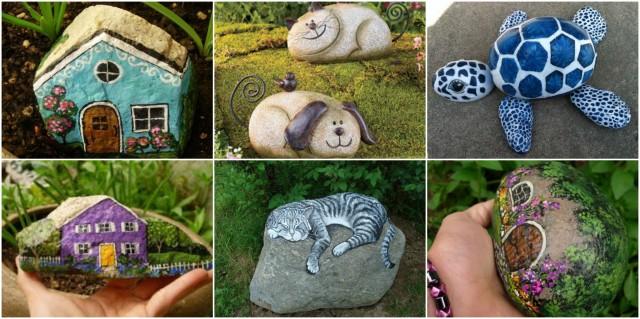 Gartendeko aus stein  Steine bemalen und als Gartendeko verwenden - 15 kreative Ideen ...