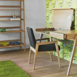 Gruener teppich arbeitszimmer mit gruenen tapeten skandinavische einrichtung.jpg