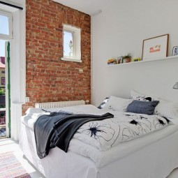 Small bedroom with brick wall exposed brick bedroom d63cf92774a78a72.jpg