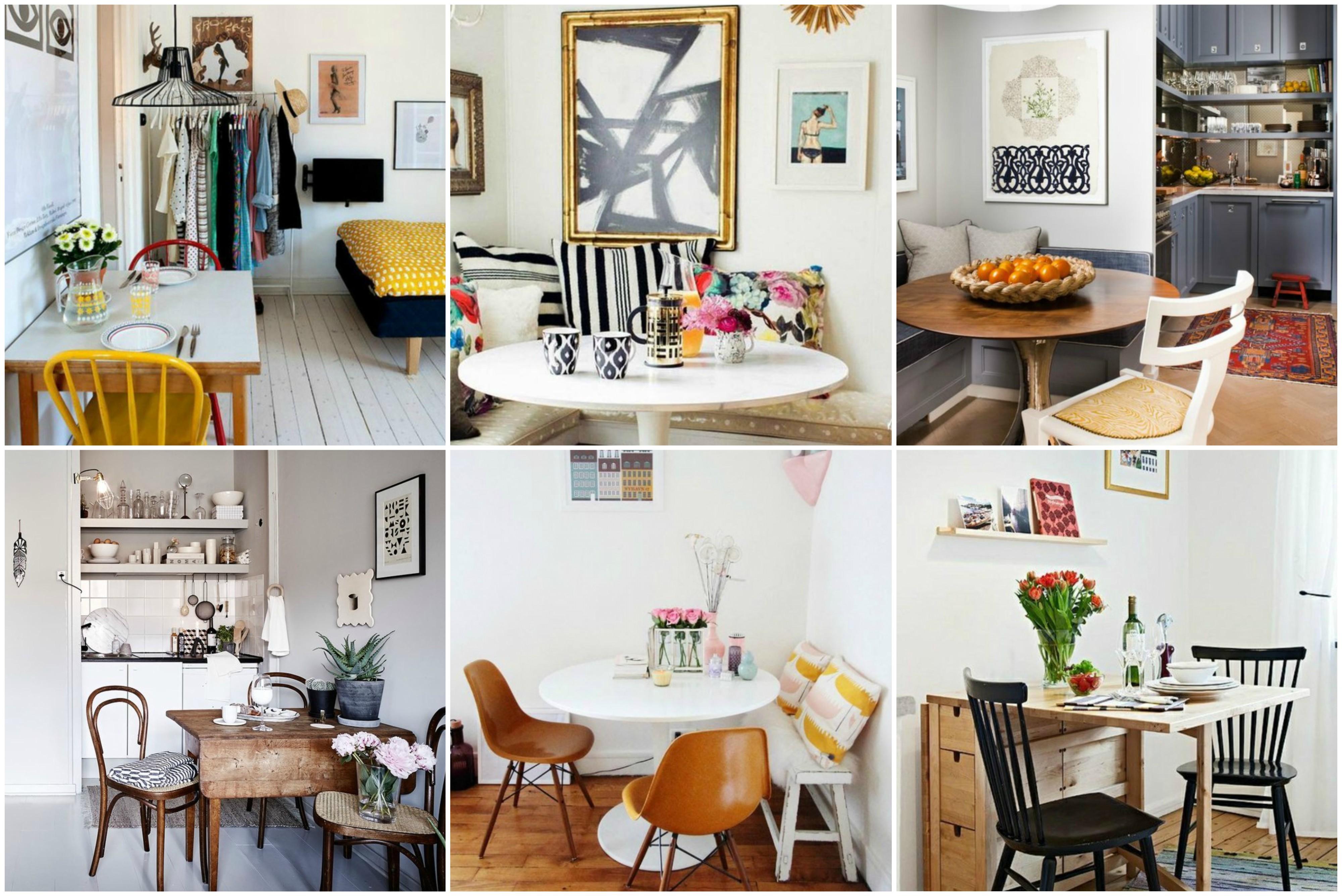 idee f r die kleinsten k chen eine stilvolle essecke einrichten. Black Bedroom Furniture Sets. Home Design Ideas
