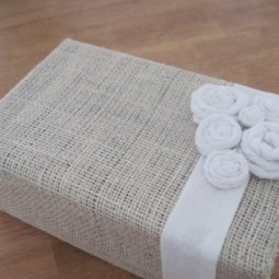 Decorate an old shoe box with fabric scraps to transform it into a beautiful organizational box.jpg