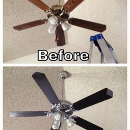 4. paint your ceiling fan blades instead of replacing them 27 easy remodeling projects that will completely transform your home .jpg