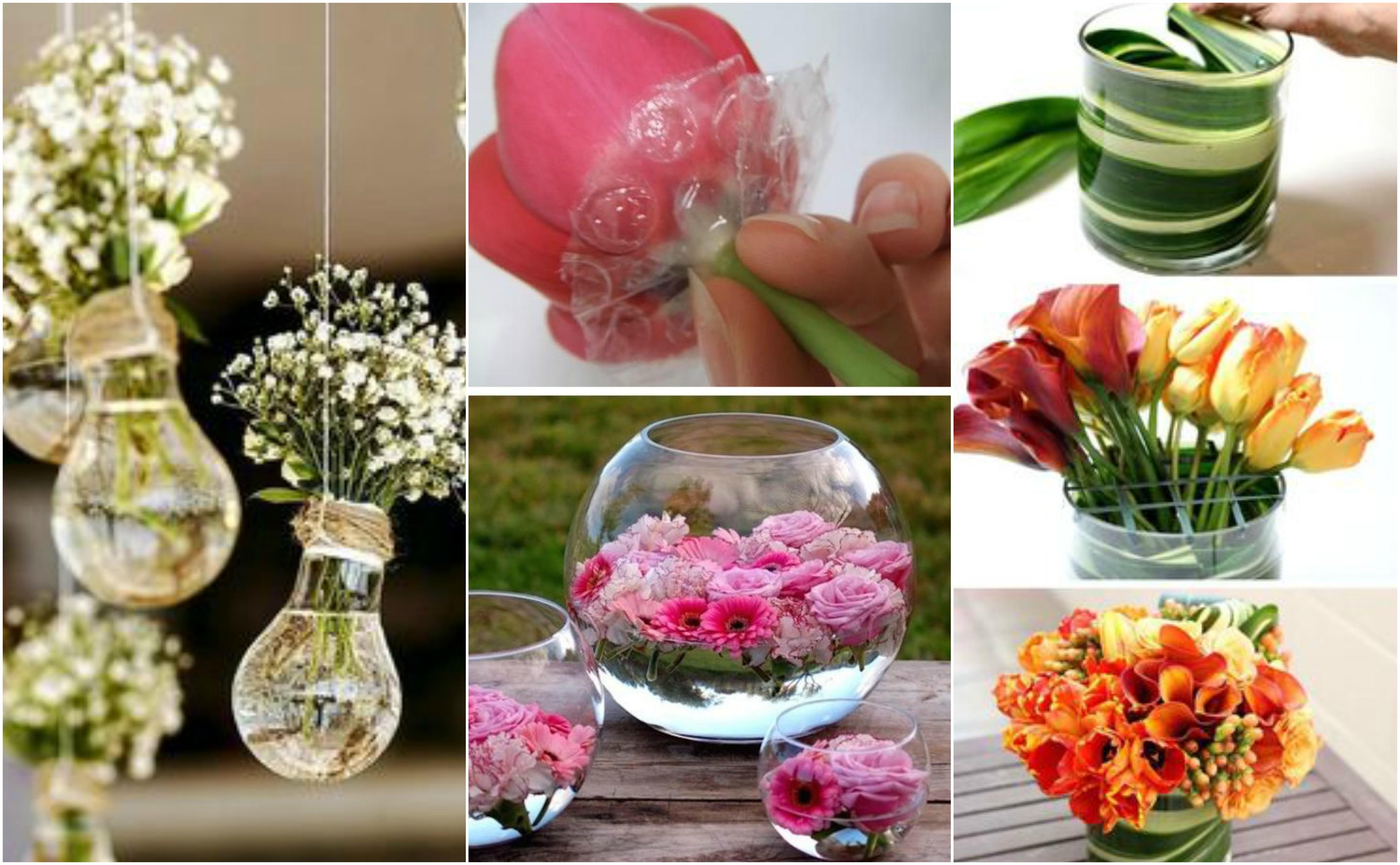 deko diy tipps blumen in der vase arrangieren. Black Bedroom Furniture Sets. Home Design Ideas