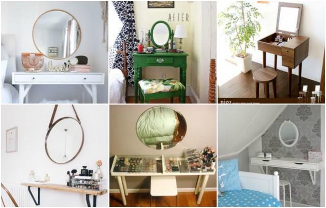10 sch nste ideen f r mini schminktisch und schminkplatz. Black Bedroom Furniture Sets. Home Design Ideas