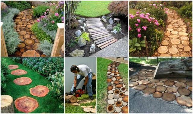 Gartenwege aus Holz anlegen :) - nettetipps.de