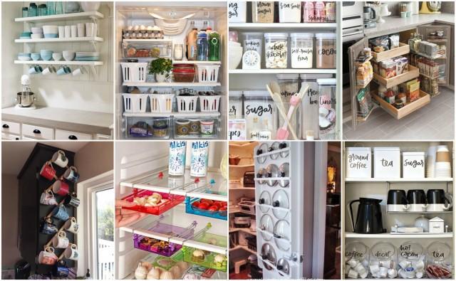 Küche, Speisekammer & Kühlschrank: 50 geniale platzsparende Ideen ...