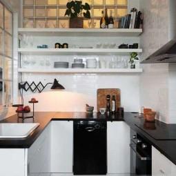 stilvoll und platzsparend einrichtungsideen f r eine kleine k che. Black Bedroom Furniture Sets. Home Design Ideas
