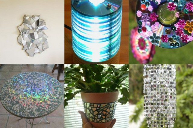 16 upcycling ideen f r alte cds for Wohnungsdekoration ideen