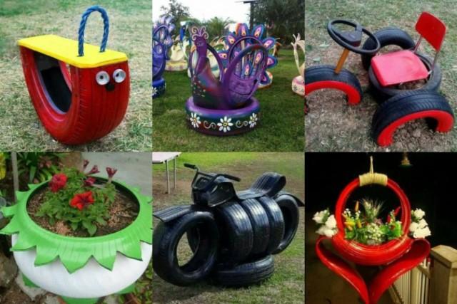 Wunderbar Upcycling Ideen Aus Alten Reifen Für Den Garten